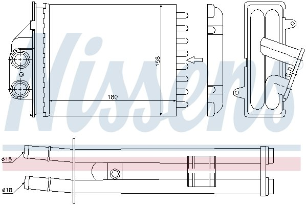 Chauffage NISSENS 71453 (X1)