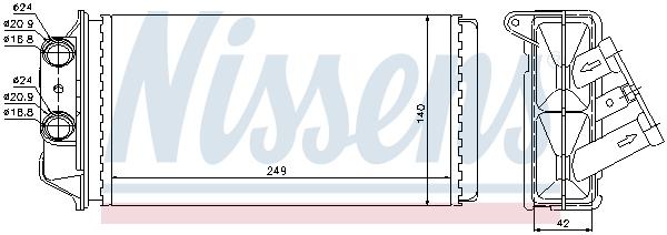 Radiateur de chauffage NISSENS 71454 (X1)