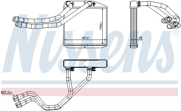 Chauffage NISSENS 71455 (X1)