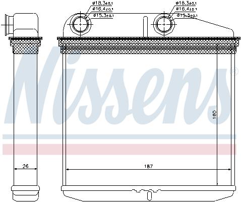 Radiateur de chauffage NISSENS 71456 (X1)