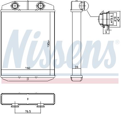 Chauffage NISSENS 71458 (X1)