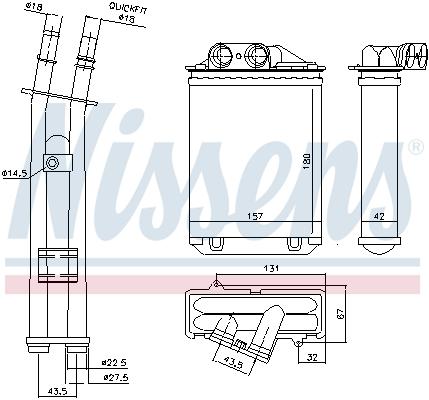 Chauffage NISSENS 71459 (X1)