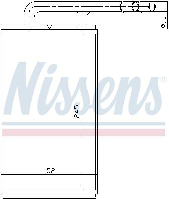 Radiateur de chauffage NISSENS 71740 (X1)