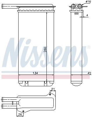 Radiateur de chauffage NISSENS 71755 (X1)