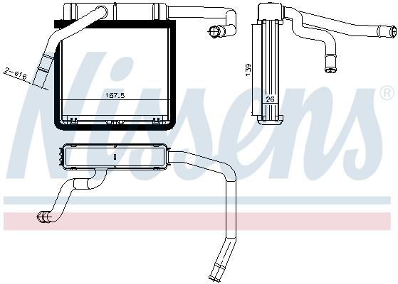 Radiateur de chauffage NISSENS 71775 (X1)
