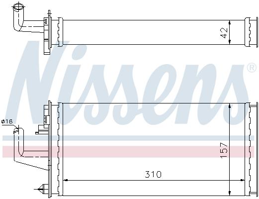 Radiateur de chauffage NISSENS 71807 (X1)