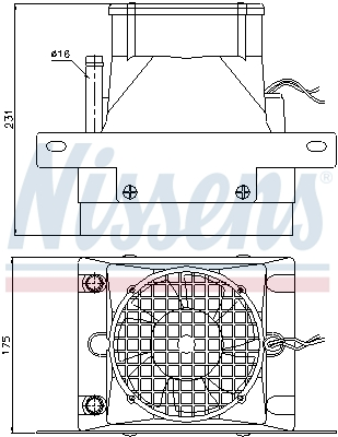 Radiateur de chauffage NISSENS 71907 (X1)