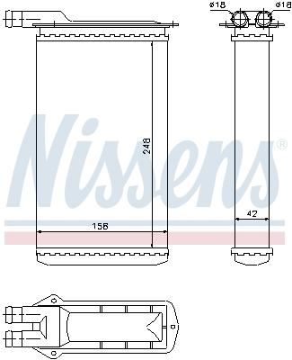 Radiateur de chauffage NISSENS 71942 (X1)