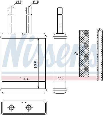 Radiateur de chauffage NISSENS 71957 (X1)