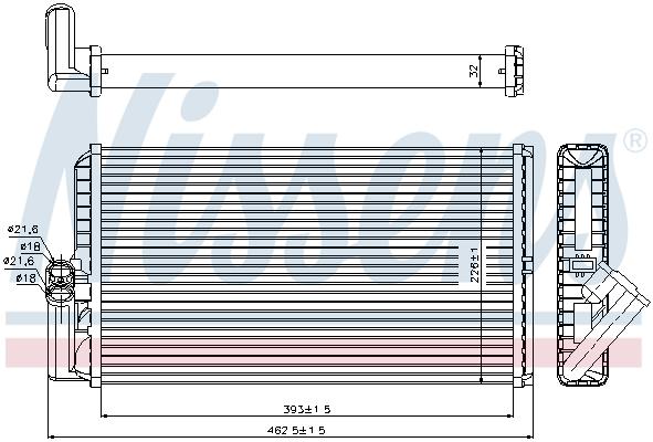 Radiateur de chauffage NISSENS 72034 (X1)