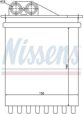 Radiateur de chauffage NISSENS 72040 (X1)