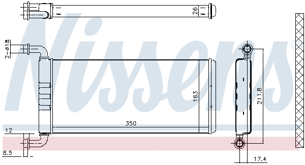 Radiateur de chauffage NISSENS 72041 (X1)