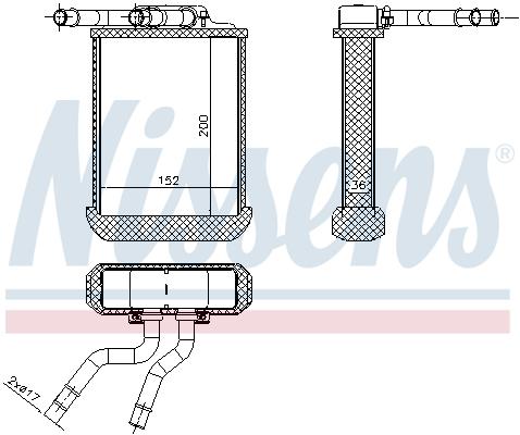 Radiateur de chauffage NISSENS 72045 (X1)