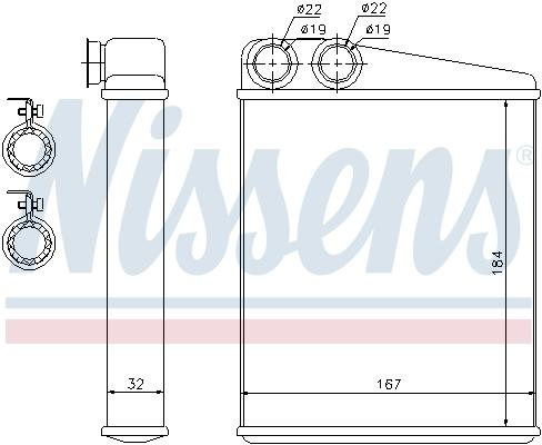Radiateur de chauffage NISSENS 72047 (X1)