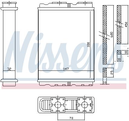 Radiateur de chauffage NISSENS 72050 (X1)