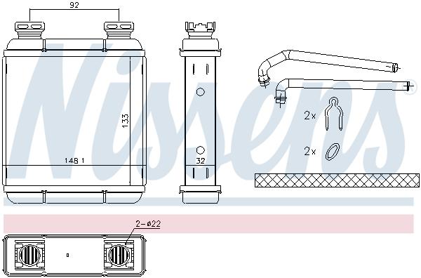 Radiateur de chauffage NISSENS 72072 (X1)