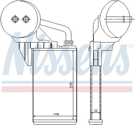 Radiateur de chauffage NISSENS 72207 (X1)