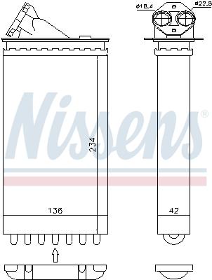 Radiateur de chauffage NISSENS 72655 (X1)