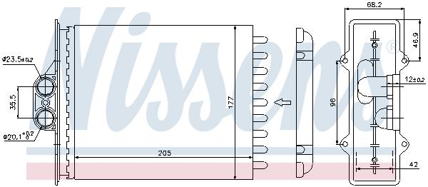 Radiateur de chauffage NISSENS 72657 (X1)