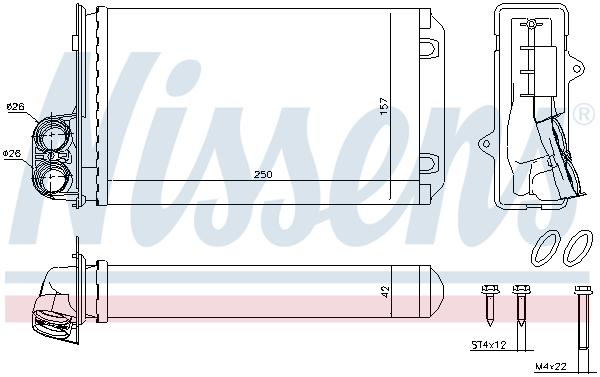 Radiateur de chauffage NISSENS 72935 (X1)