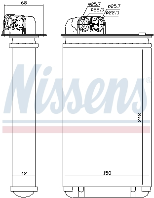 Radiateur de chauffage NISSENS 72936 (X1)