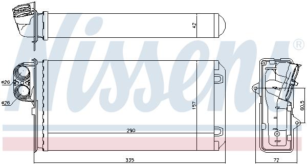 Radiateur de chauffage NISSENS 72937 (X1)