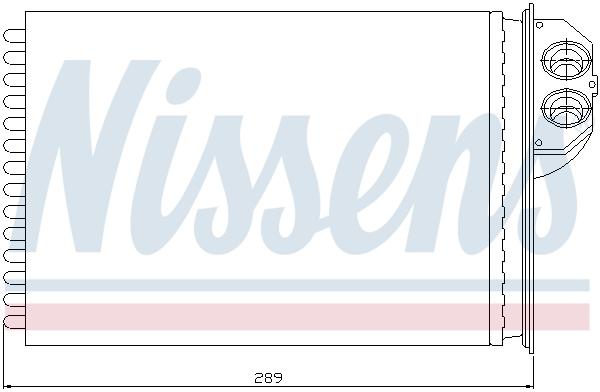 Radiateur de chauffage NISSENS 72943 (X1)