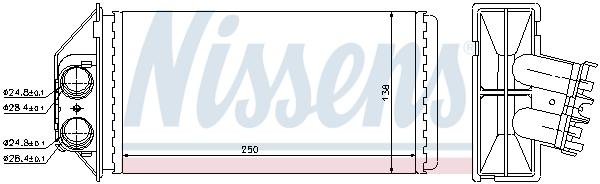 Radiateur de chauffage NISSENS 72944 (X1)