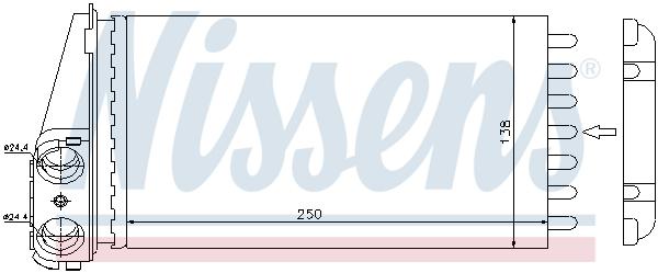 Radiateur de chauffage NISSENS 72945 (X1)