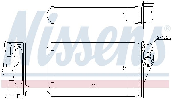 Radiateur de chauffage NISSENS 72946 (X1)