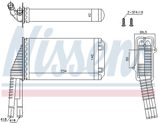 Radiateur de chauffage NISSENS 72953 (X1)