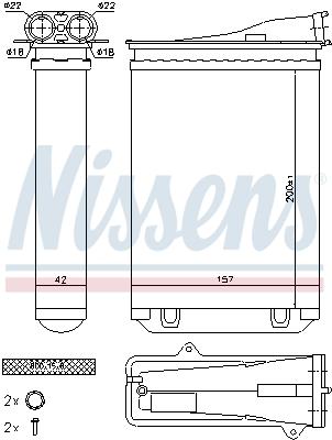 Radiateur de chauffage NISSENS 72954 (X1)