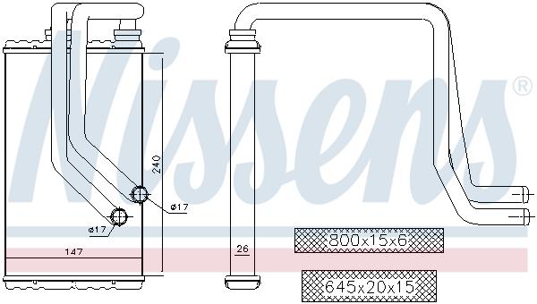 Radiateur de chauffage NISSENS 72956 (X1)