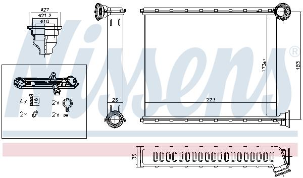 Radiateur de chauffage NISSENS 72962 (X1)