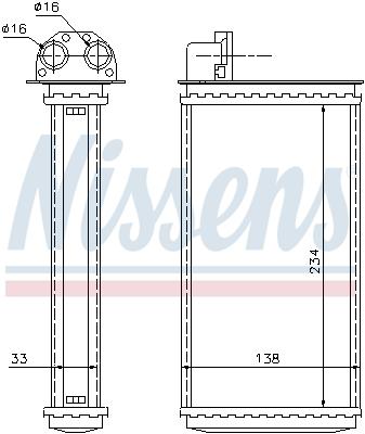 Radiateur de chauffage NISSENS 72981 (X1)