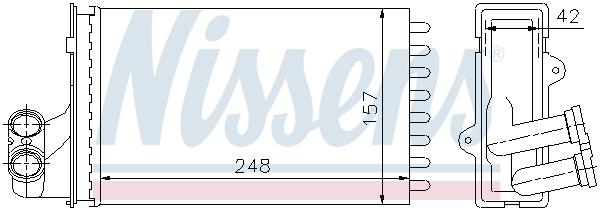 Radiateur de chauffage NISSENS 72984 (X1)
