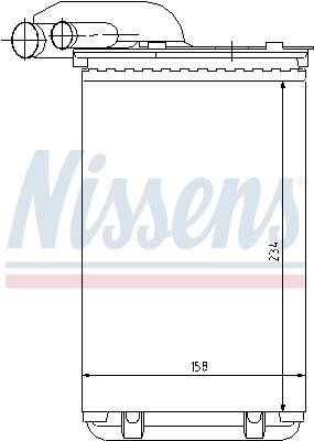 Radiateur de chauffage NISSENS 73252 (X1)