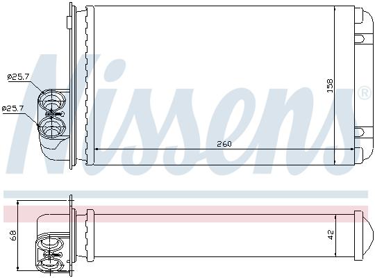 Radiateur de chauffage NISSENS 73255 (X1)