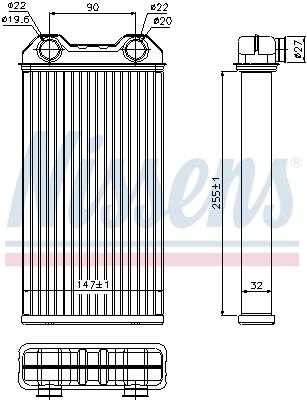 Radiateur de chauffage NISSENS 73331 (X1)