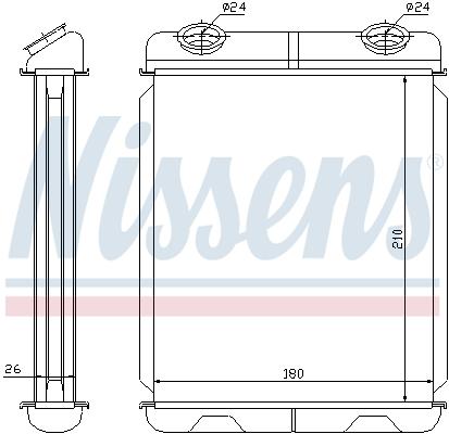 Radiateur de chauffage NISSENS 73341 (X1)