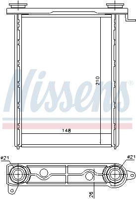 Radiateur de chauffage NISSENS 73343 (X1)