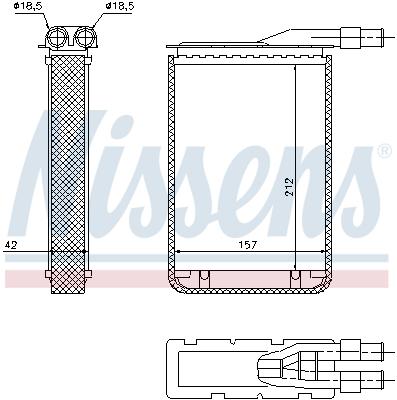 Radiateur de chauffage NISSENS 733591 (X1)