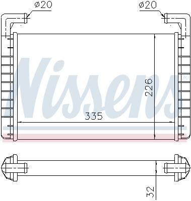 Radiateur de chauffage NISSENS 73371 (X1)