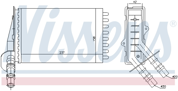 Radiateur de chauffage NISSENS 73374 (X1)