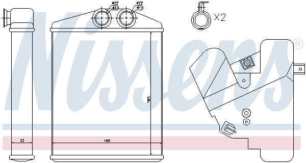 Chauffage NISSENS 73377 (X1)