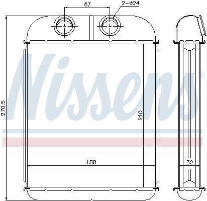 Radiateur de chauffage NISSENS 73467 (X1)