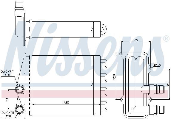 Radiateur de chauffage NISSENS 73468 (X1)