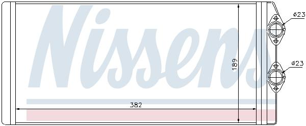Radiateur de chauffage NISSENS 73629 (X1)