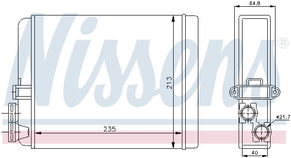 Radiateur de chauffage NISSENS 73641 (X1)