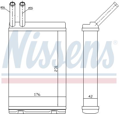 Radiateur de chauffage NISSENS 73642 (X1)